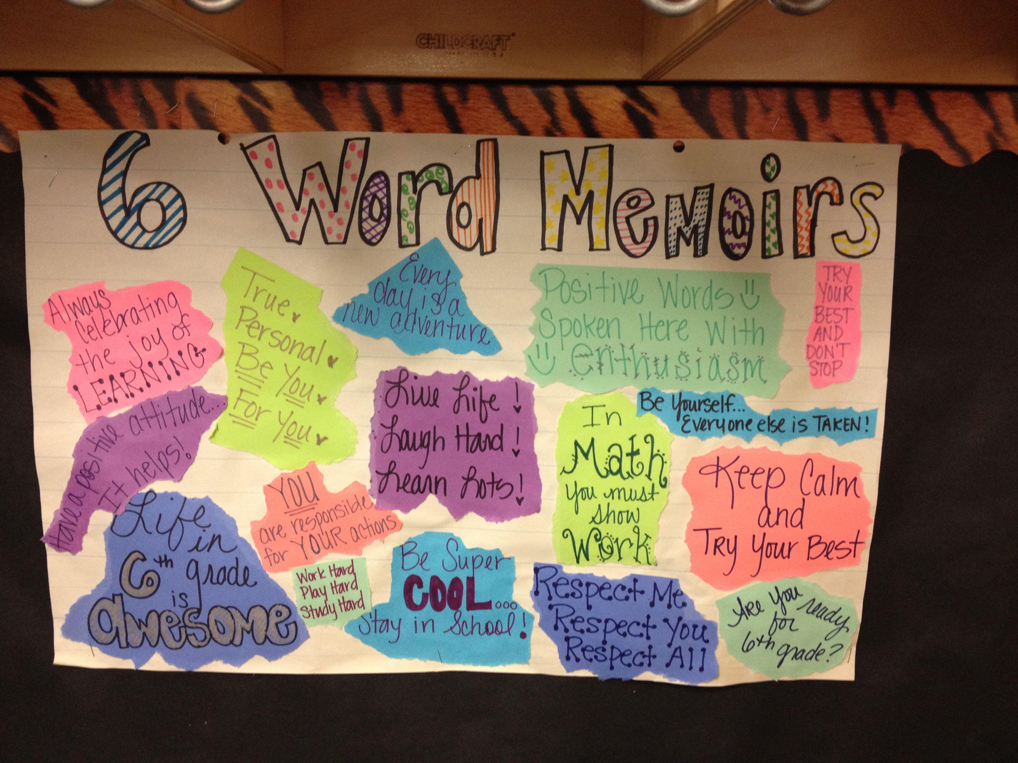 6 Word Memoirs