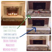 Brick fireplace makeover | For the Home | Pinterest