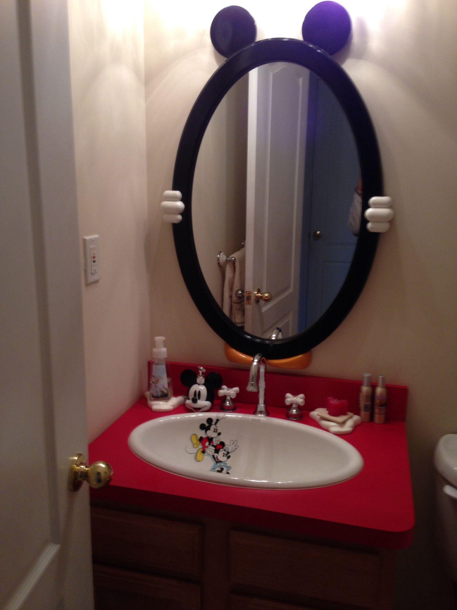 My Mickey Mouse bathroom  Disney Decor  Pinterest