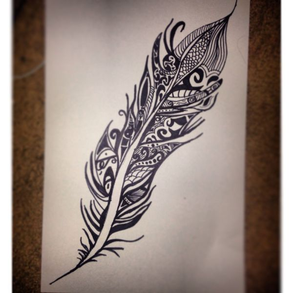 Tribal Feather Sharpie Drawing Artist' Inspiration