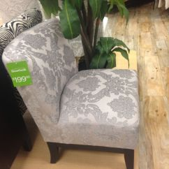 Cynthia Rowley Nailhead Accent Chair Who Reupholstered Chairs Light Grey Damask