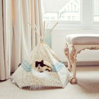 Teepee pet bed!! | Dog beds and Treats | Pinterest