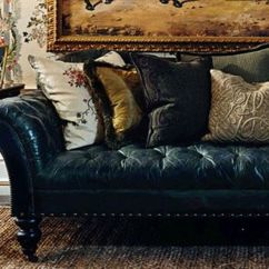 Ralph Lauren Home Chesterfield Sofa Natuzzi Black Leather Recliner Tufted  Collection