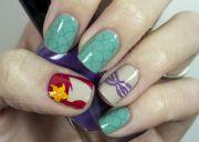 little mermaid inspired nail art