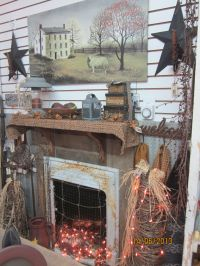 Our Primitive Fireplace | Can't get enough primitives ...