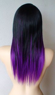 dying tips purple white