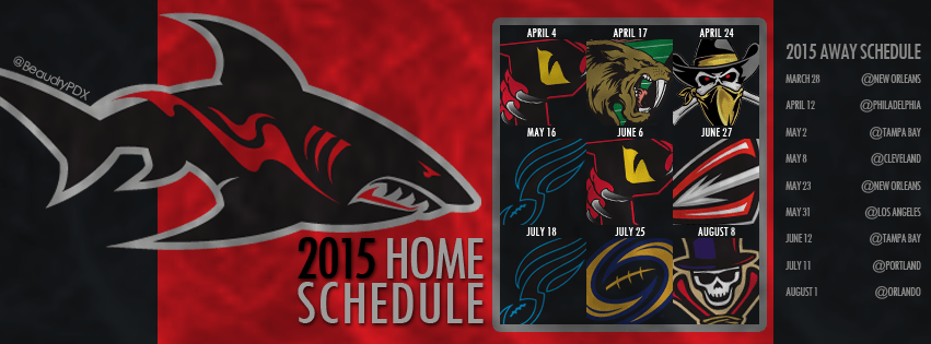 Jacksonville Sharks schedule for Facebook