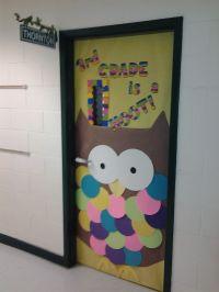 door for owl theme | Classroom Decoration | Pinterest