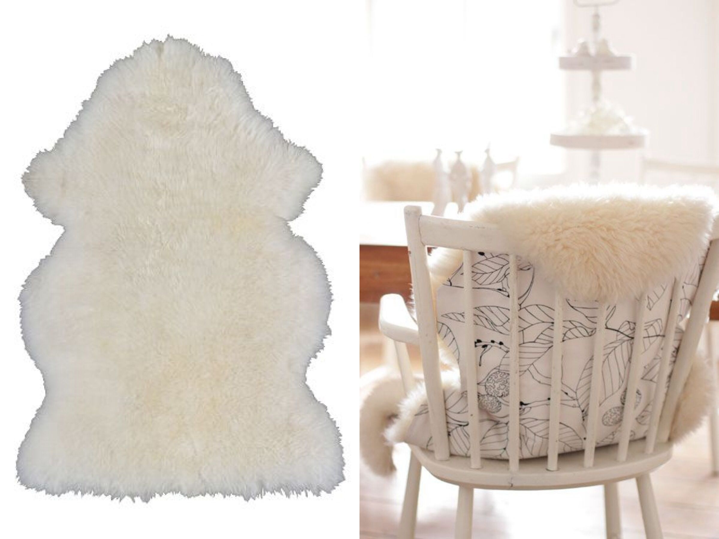 sheepskin rug on chair deluxe folding in a bag diy ikea rens cover kraft yourself
