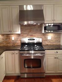 tumbled stone backsplash | New Kitchen Ideas | Pinterest