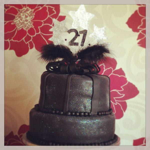 Black Glitter 21st Birthday Cake Cakes