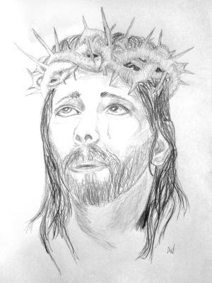 jesus pencil drawings christ drawing easy sketches savior amazing catholic king line realistic yeshua religious visit