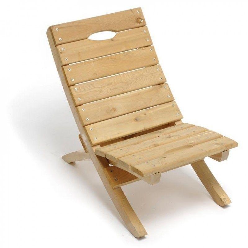 Simple Wooden Beach Chair