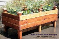 Raised planter box. DIY | Container planting | Pinterest