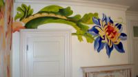 Modern and fresh! Hand painted wall mural for a girl's ...