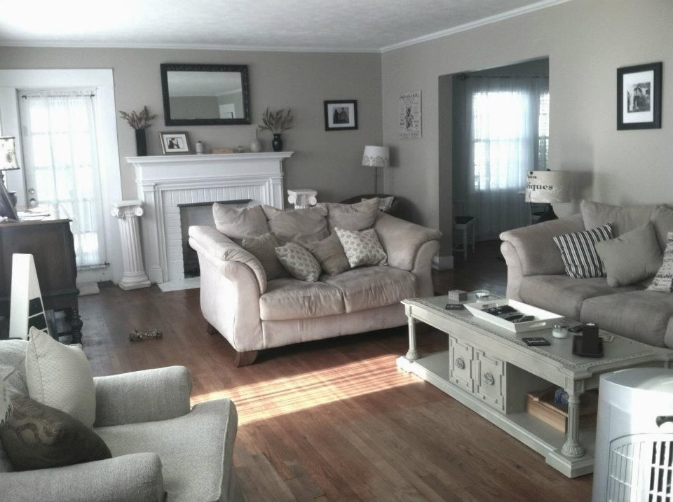 Beige And Grey Living Room