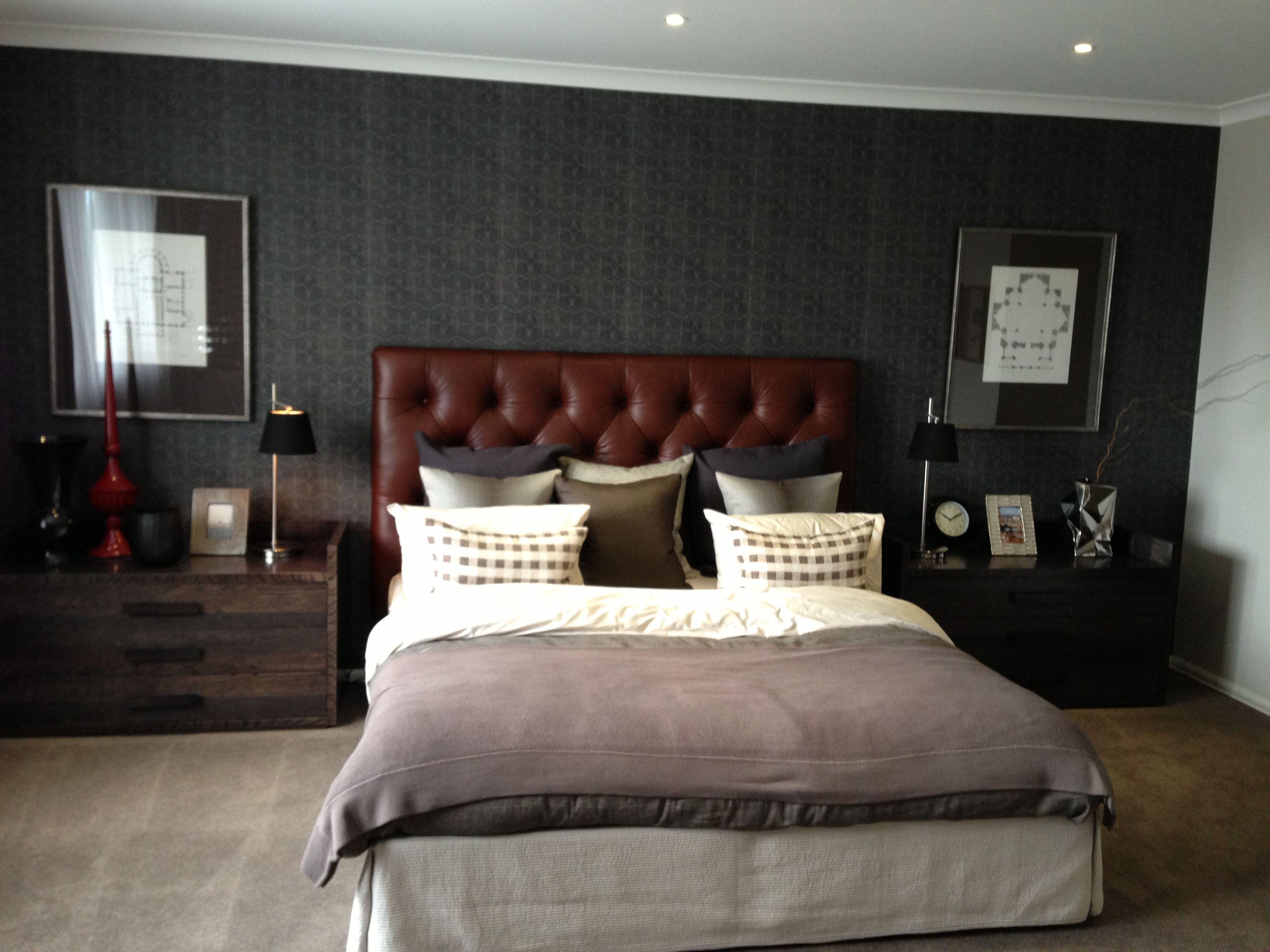 Masculine bedroom.