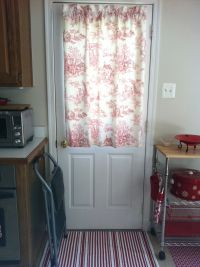 Kitchen door curtain.