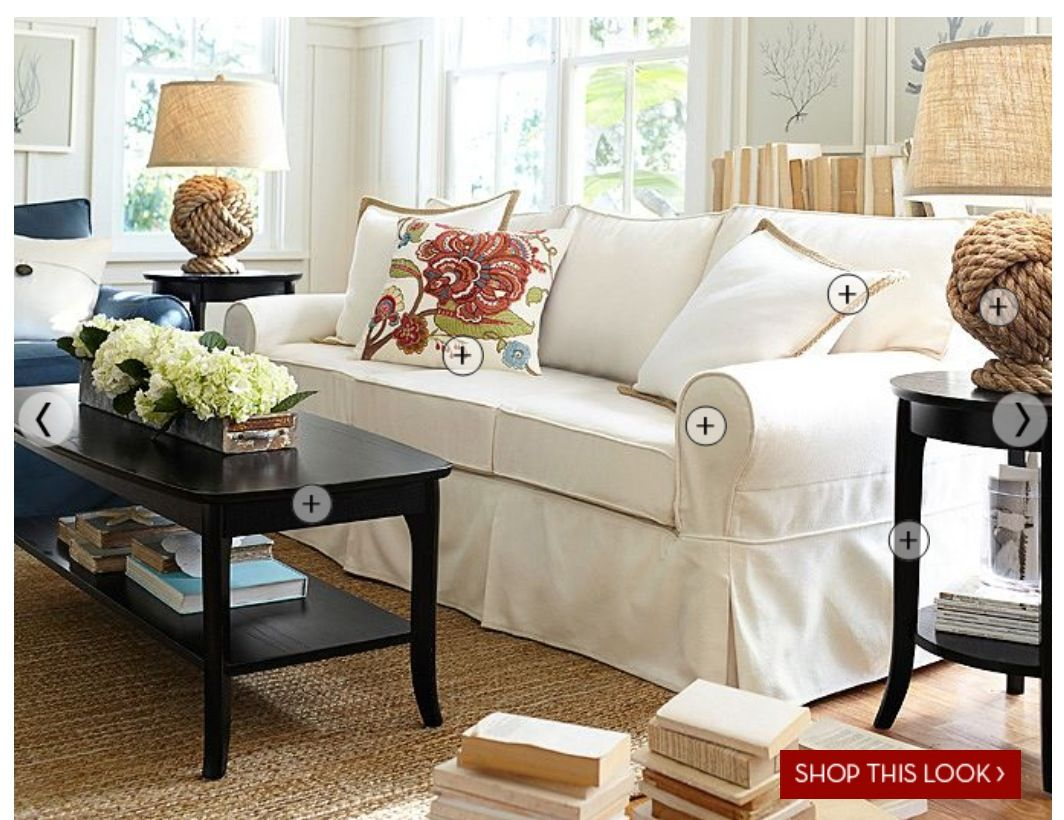 Pottery barn living room  Spaces  Pinterest
