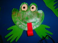 Paper plate frog | Pumpkin Patch Preschool and Child Care ...