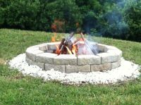 Homemade fire pit   A well stocked home...   Pinterest