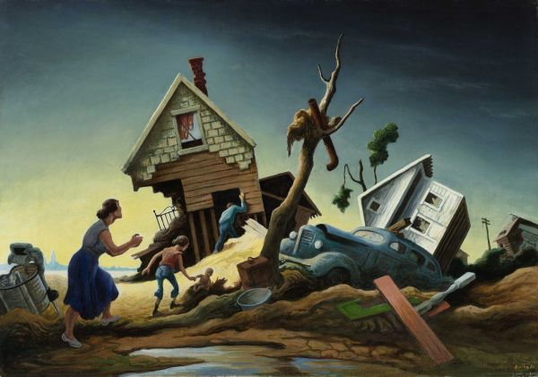 Thomas Hart Benton Paintings Flood Disaster