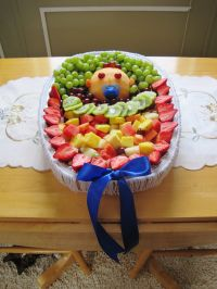 Fruit Tray I made for Bailey's baby shower. | Baby Shower ...