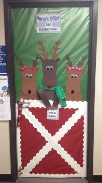Christmas Door Decorations On Pinterest