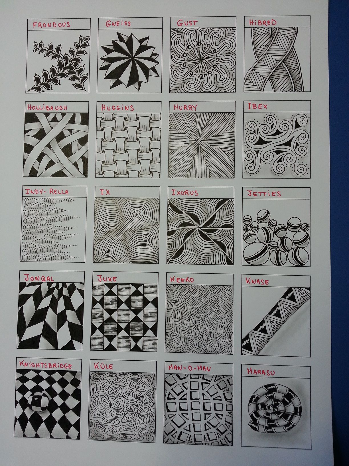 Zentangle Worksheet