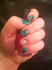 christmas gel nails beauty
