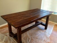 Rustic dining room table made by my husband :) | HOME ...