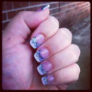 blue acrylic nails style
