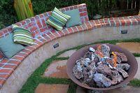 Brick Bench at fire pit   Garden   Pinterest