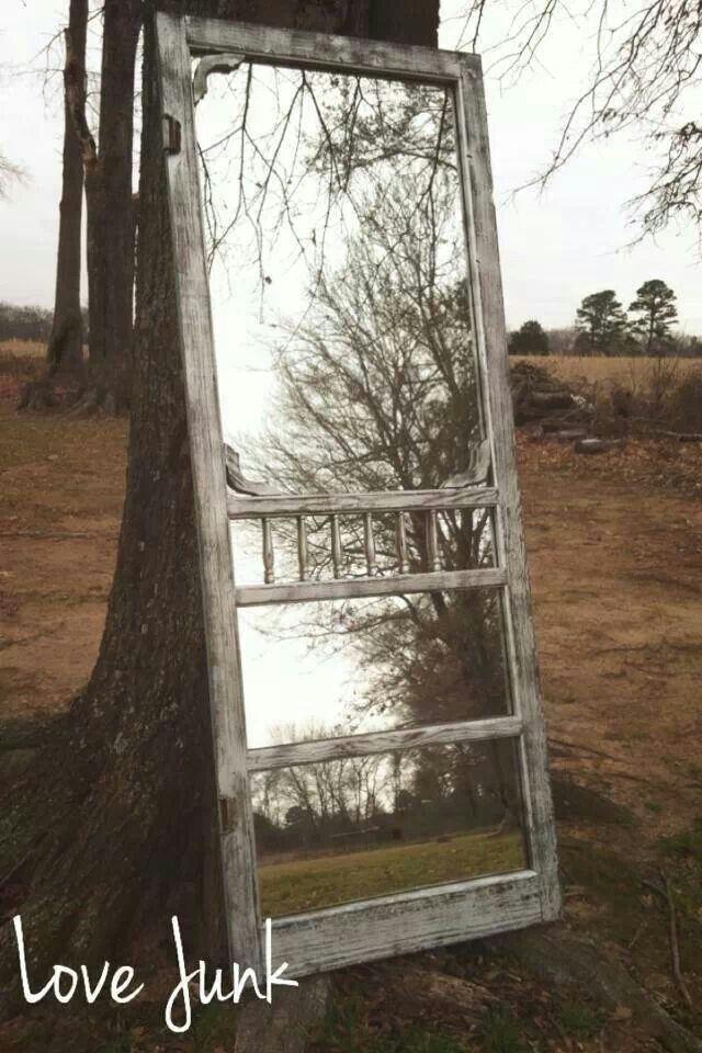 old screen door ~ full length mirror