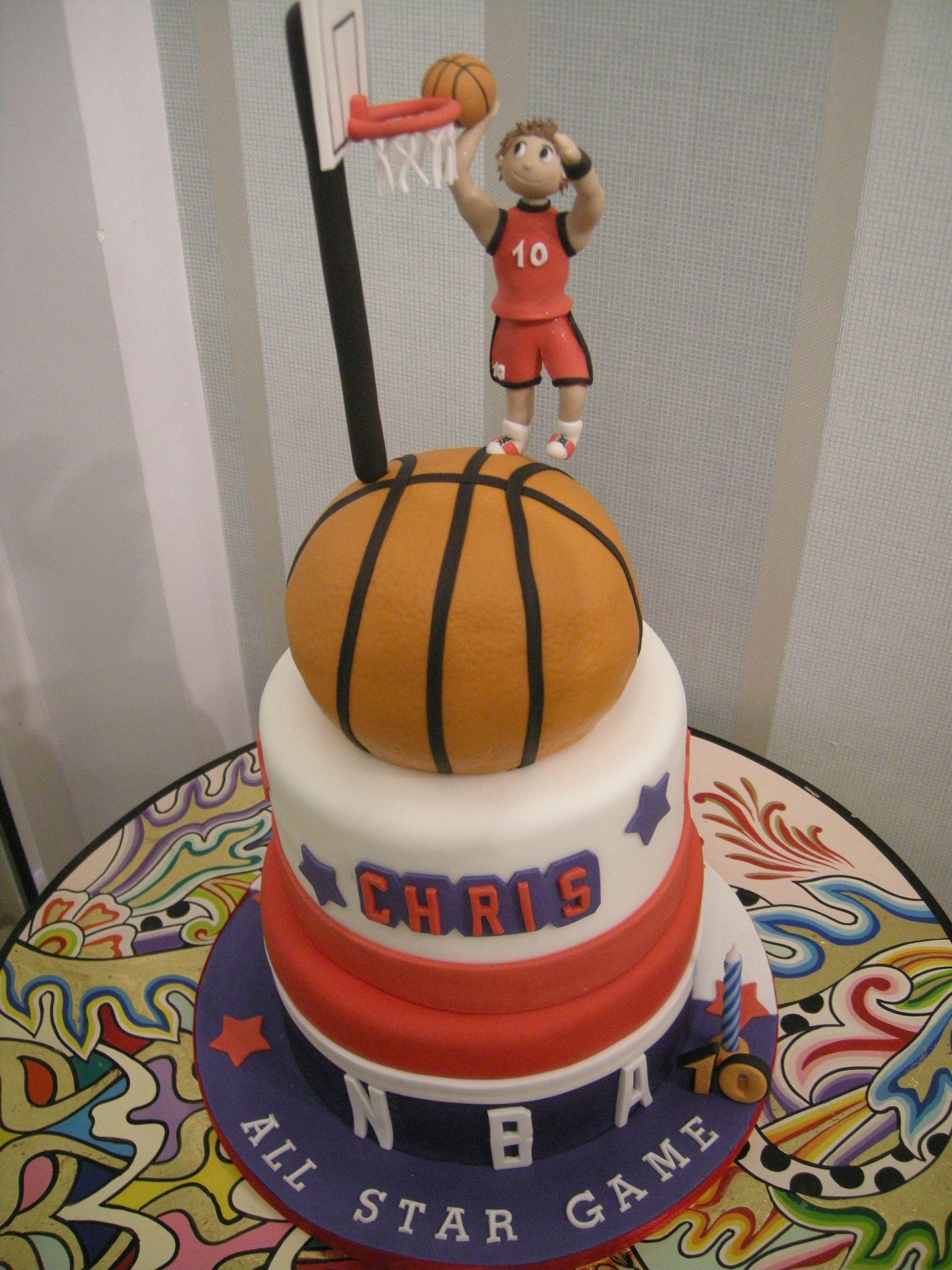 Pin Nba Basketball Cake Ideas And Designs