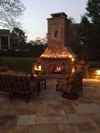 Custom built outdoor fireplace | Patios, Outdoor Living ...