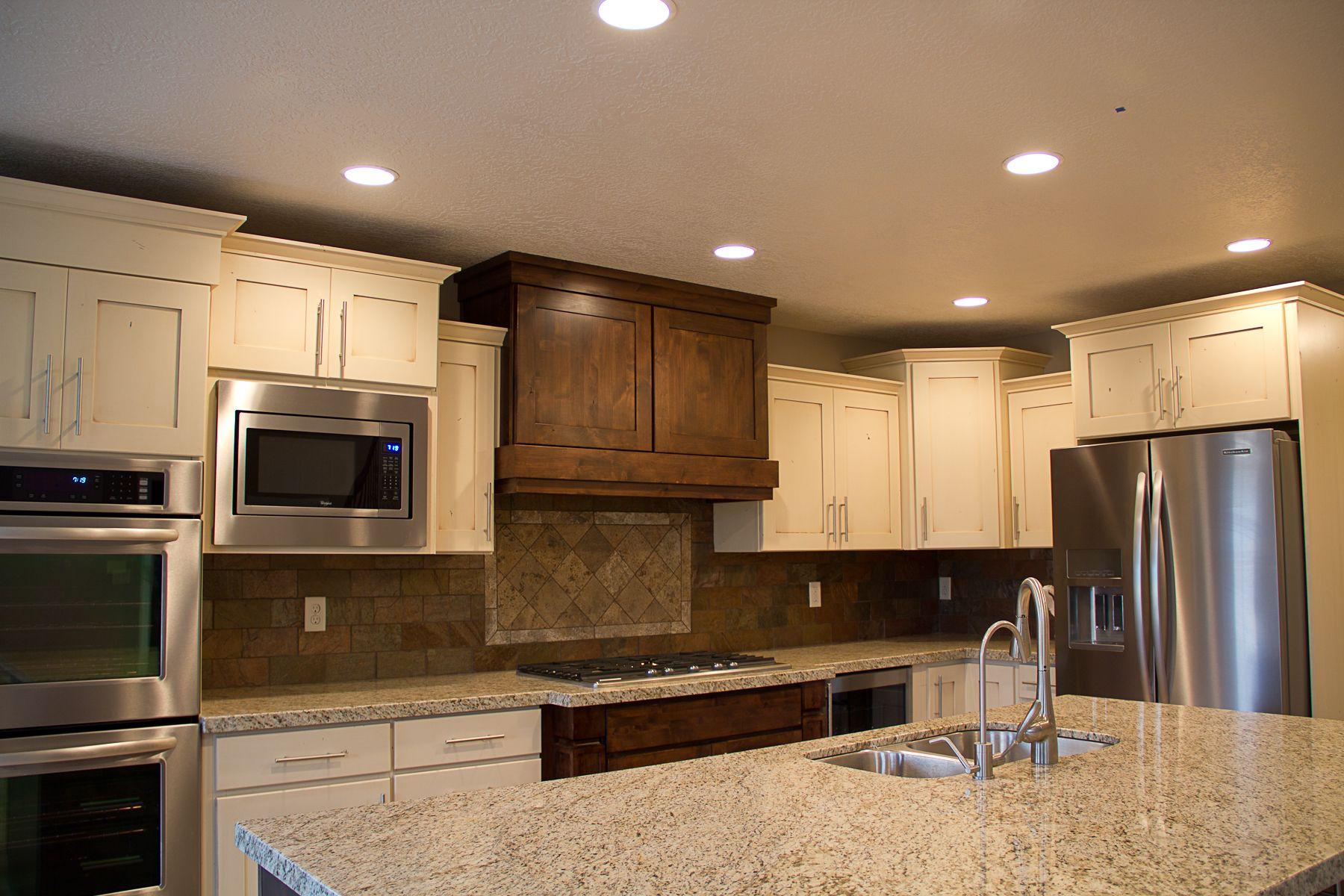 different color kitchen cabinets copper decor in