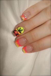 Tropical vacation nails! | Nail designs | Pinterest