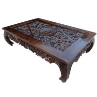 Carved Indian Teak Oriental Coffee Table | Apartment ...