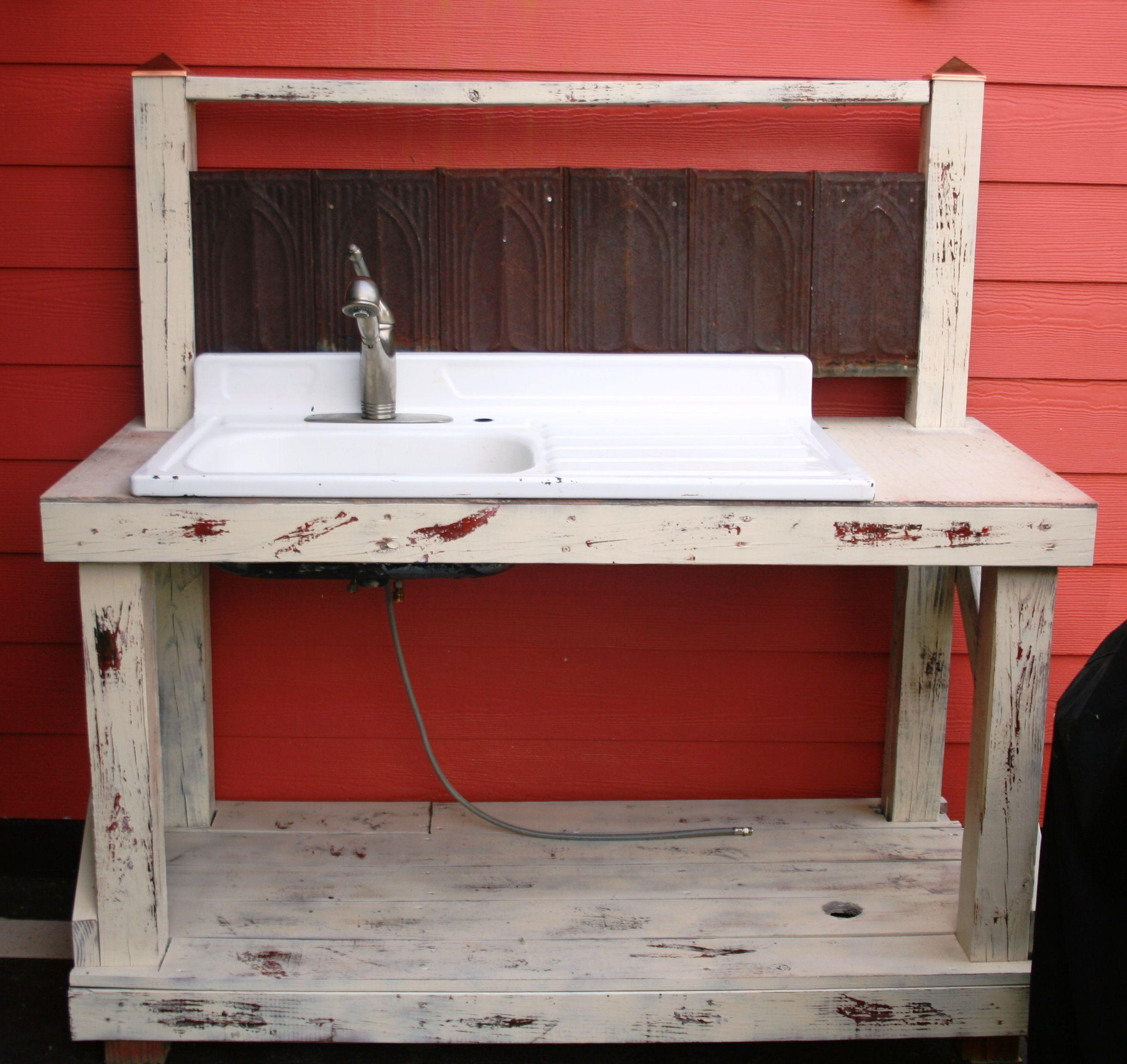 outdoor kitchen sinks cabinet freestanding sink furniture pinterest