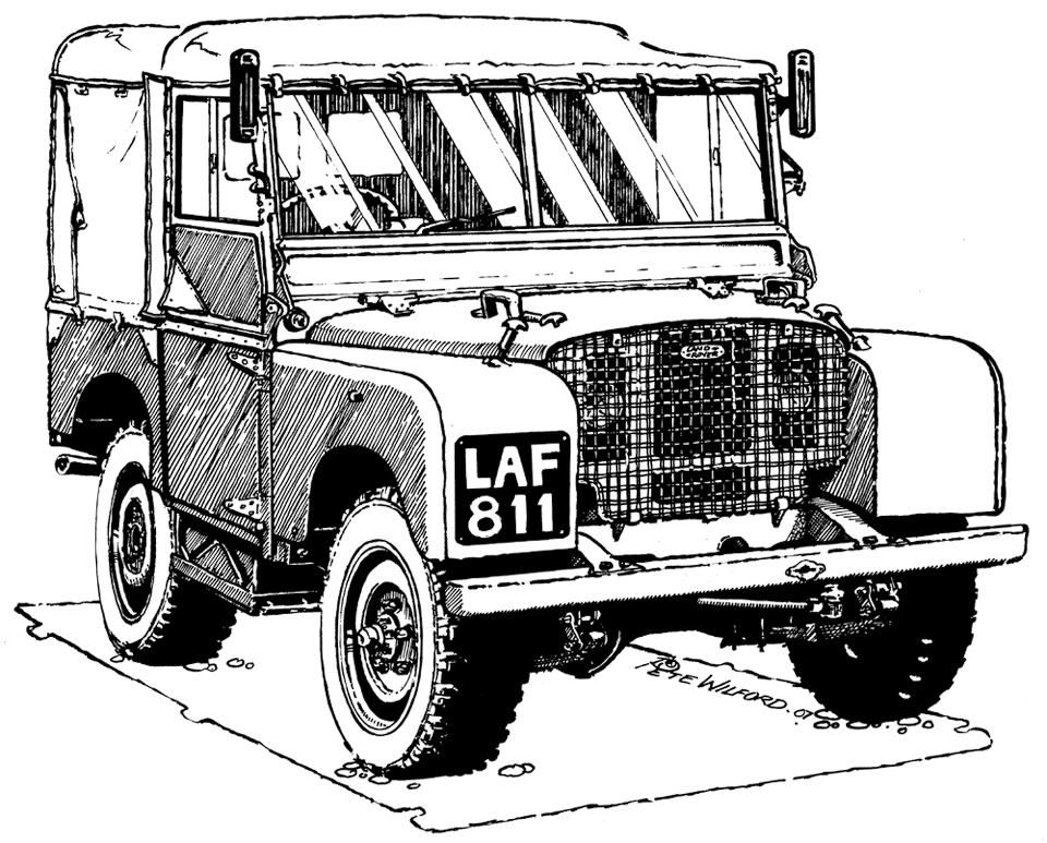Land Rover Coloring Pages Sketch Coloring Page