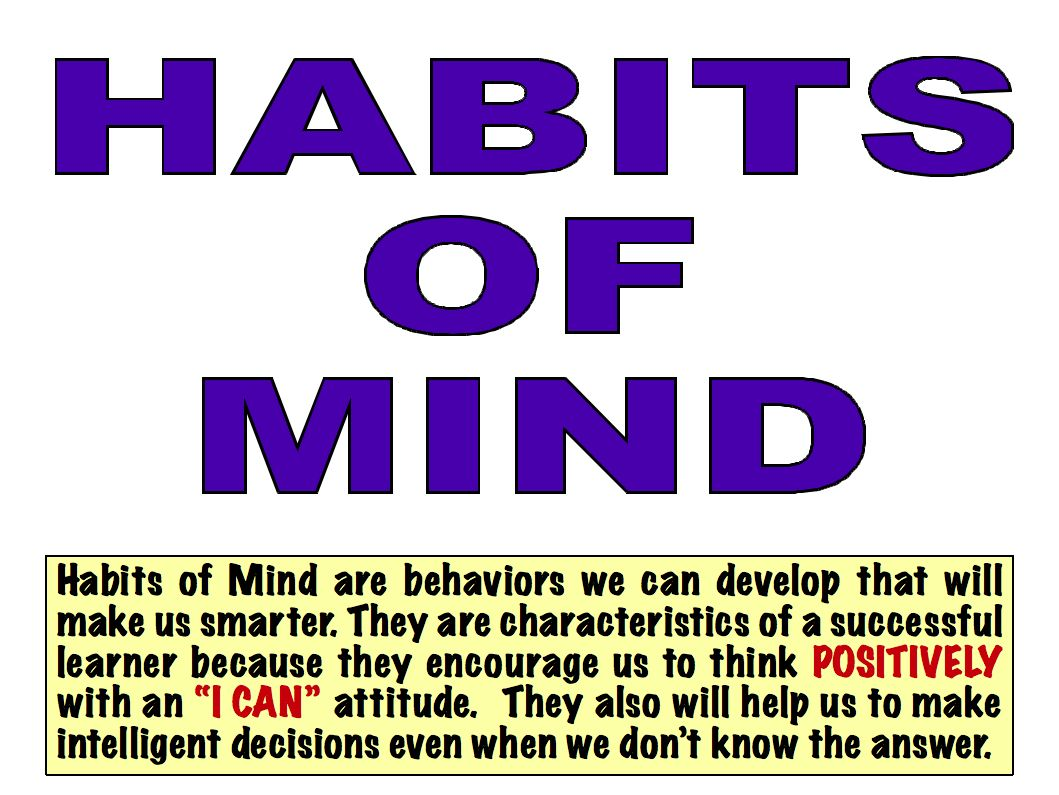 Pin By Cheryl Baysinger On 16 Habits Of Mind