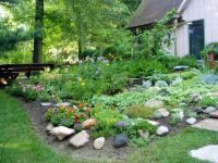 rock garden at my house | gardening | Pinterest