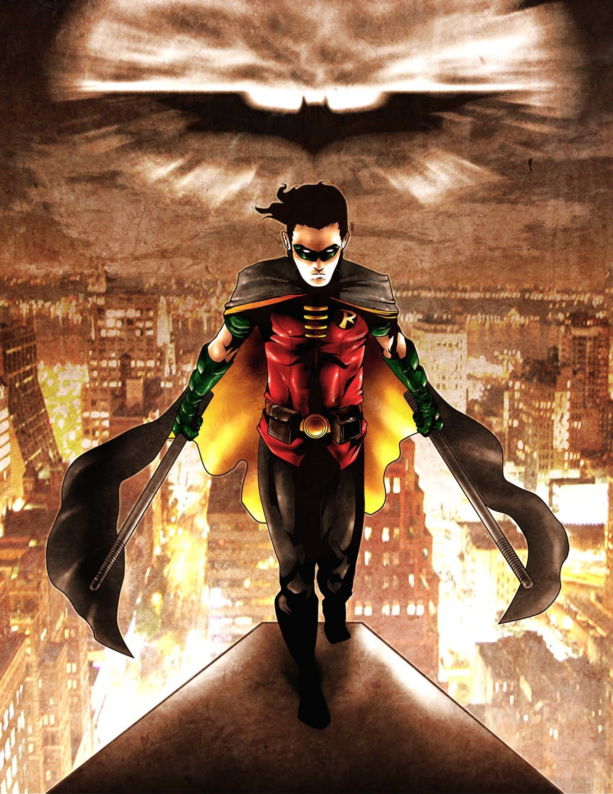 Wow Check Out This Robin DC Comic Art batfamily Pinterest