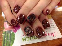 fall nail art pedicure fall nail art nails design pinterest