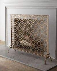 fireplace screen | Dream Home | Pinterest
