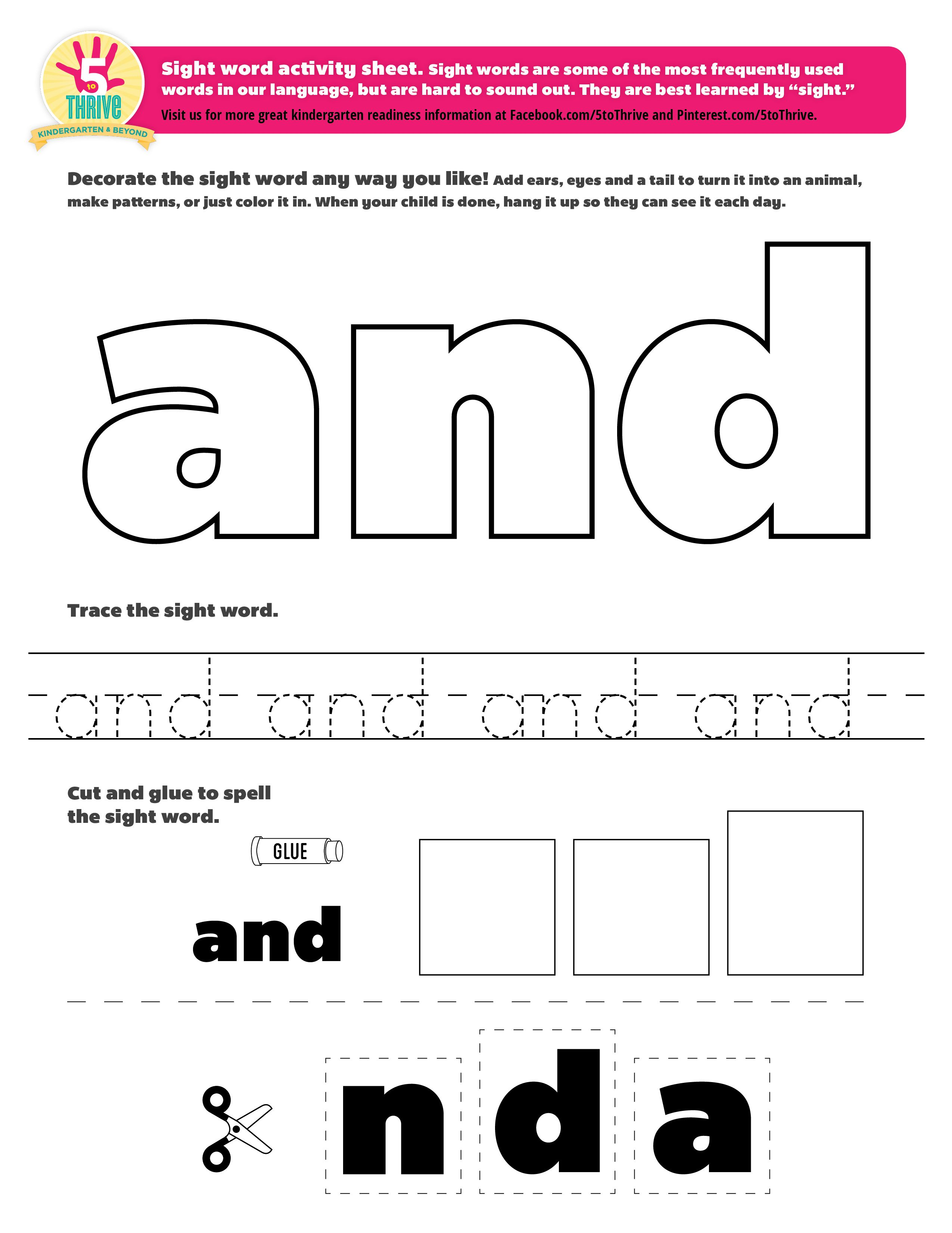 Pin By 5 To Thrive On Sight Word Printables And More
