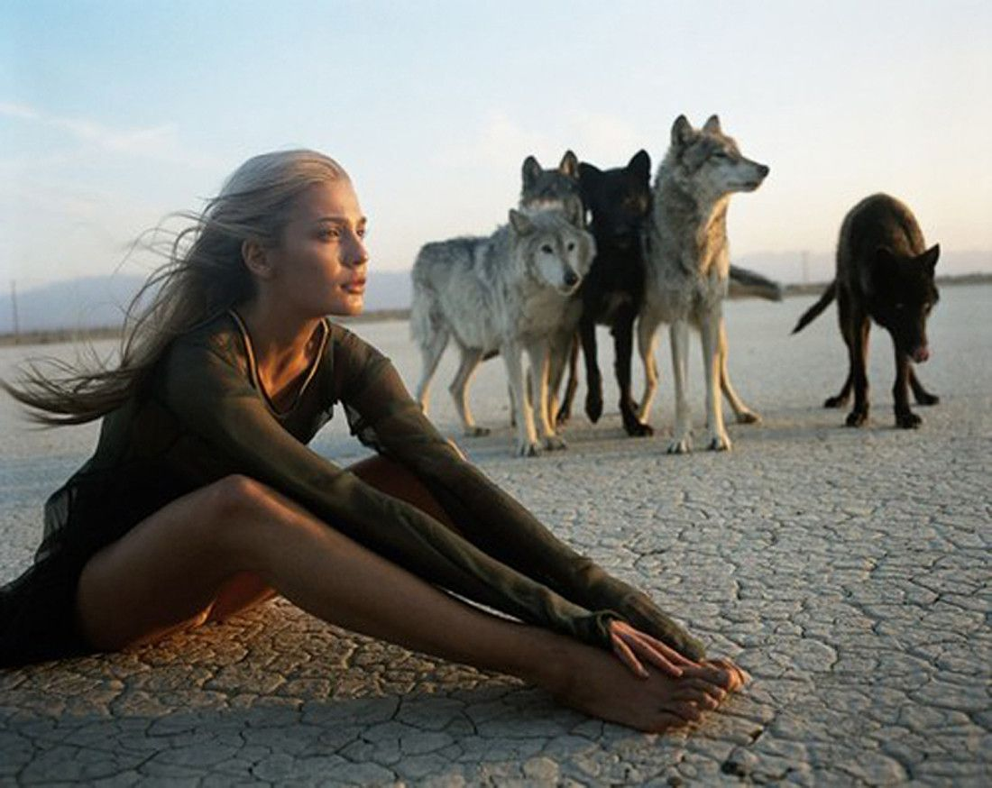 Image result for women with wolves