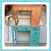 Desk before and after | Refurbished Furniture I have done ...