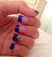 Dark Blue Nail Tip Designs